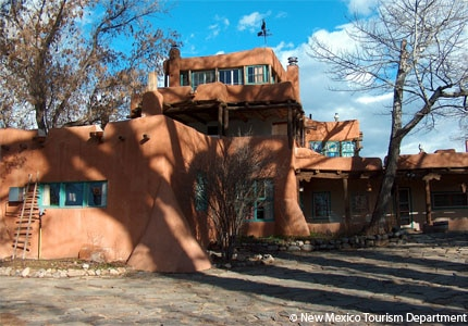 The Mabel Dodge Luhan House in Taos, New Mexico