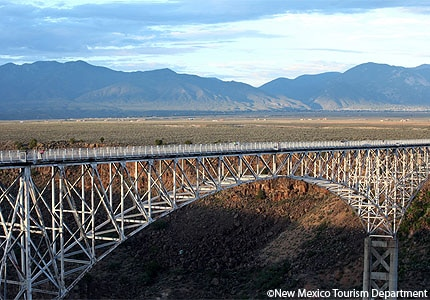 The Rio Grande Gorge Bridge in Taos, New Mexico, stands at 650 feet tall