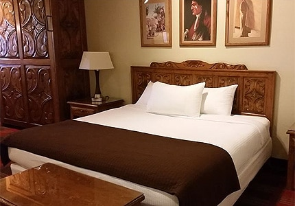 A guest room at Sagebrush Inn in Taos, New Mexico