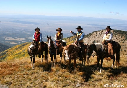 Enjoy recreational activities such as horseback riding during your stay in Taos, New Mexico