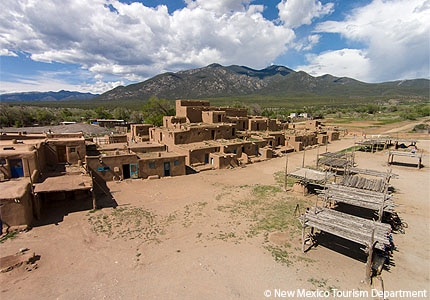 The Taos Pueblo in New Mexico