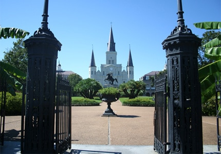 Jackson Square gets its name from the statue of Andrew Jackson located in its center