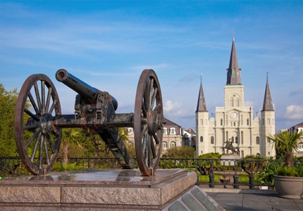 St. Louis Cathedral is one of the tallest structures in New Orleans