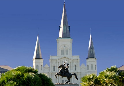 St. Louis Cathedral in Jackson Square in New Orleans, Louisiana