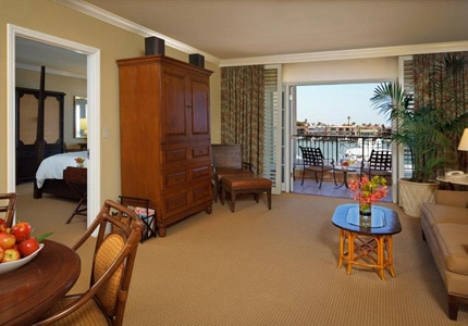 The Bay View Suite at the Balboa Bay Resort in Newport Beach, California