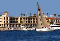 The Balboa Bay Club & Resort sits on Newport Harbor