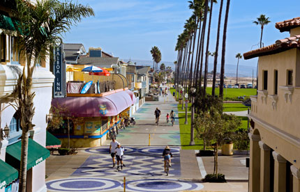 Balboa Boardwalk in Newport Beach, CA