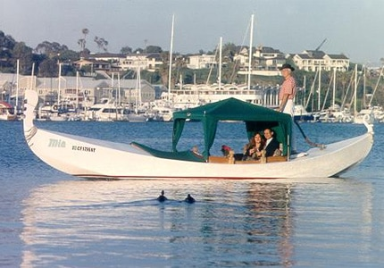 Go on a charming gondola ride with Gondola Romance in Newport Beach, California