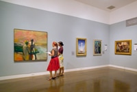The Orange County Museum of Art in Newport Beach is home to a collection of fine modern artwork