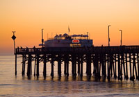 Sunset at Balboa Pier in Newport Beach