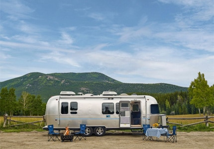 Explore the Western United States in one of Airstream 2 Go's fully equipped trailers