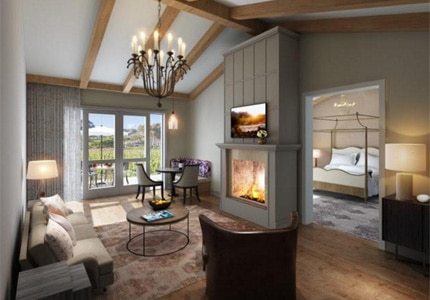 A peek at one of the new Villas & Suites at Bernardus Lodge & Spa in Carmel Valley, California
