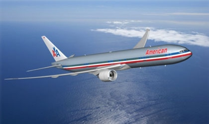 The new American Airlines Boeing 777-300ER aircraft