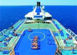 The sun deck aboard the Louis Cristal cruise ship from Cuba Cruise