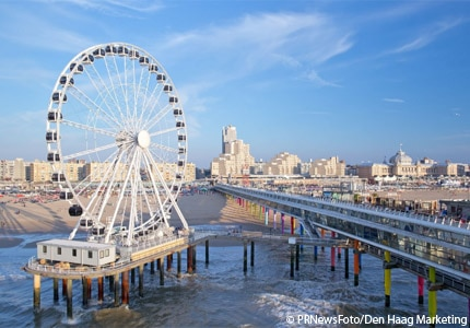 Europe's first over sea Ferris Wheel debuts in The Netherlands