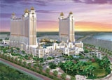 Galaxy Macau, a mega-resort casino entertainment complex in China