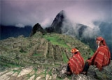 The mythical ruins of Machu Picchu in Peru