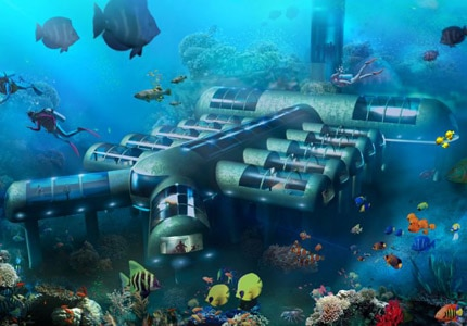 A glimpse of a 12-room hotel design by Planet Ocean Underwater Hotel