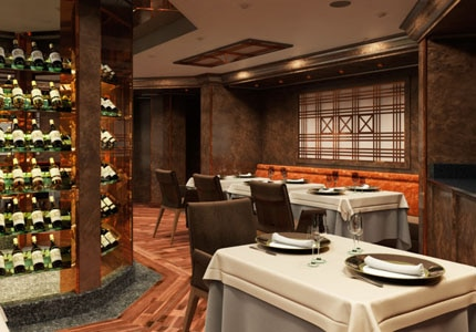The dining area of La Dame aboard Silversea's Silver Muse
