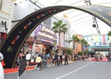 Setting up the red carpet at Universal Studios Singapore for its Grand Opening Gala Night