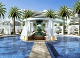 The Island Cabana at the pool at Fontainebleau Resort in Miami, Florida
