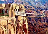 An artist's rendering of the Grand Canyon Skywalk
