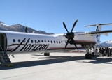 One of the Horizon Air planes making daily nonstop flights from Los Angeles to Mammoth Mountain