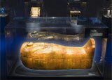 Coffin of Tjuya at the Tutankhamun exhibition