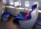 Malaysia Airlines' first class seating