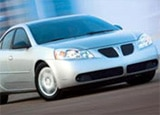 A Pontiac G6, available to rent from Hertz's Simply Wheelz program