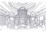 A rendering of a Savoy Hotel interior; the London hotel is slated to reopen in 2009