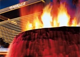 The revamped volcano at The Mirage in Las Vegas