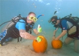 The 15th Annual Underwater Pumpkin Carving Contest in Guam