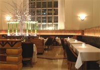 The elegant dining room at the Eleven Madison Park restaurant