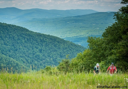 Enjoy the outdoors on a hike in the Catskills