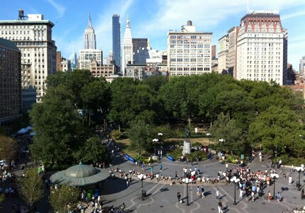Take a stroll in Union Square in Manhattan, New York