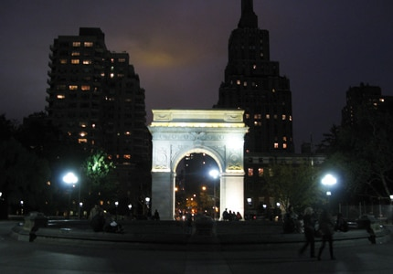 The Washington Square Arch at Washington Square Park in Greenwich Village