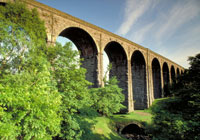 Viaduct carrying the settle to Carlisle Railway