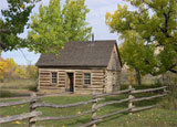 The Theodore Roosevelt National Park houses the president's Maltese Cross Cabin