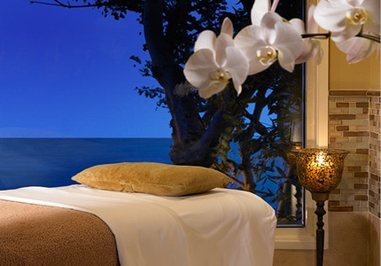Wind down at the Aquaterra Spa at Surf & Sand Resort in Laguna Beach, California