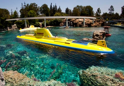 The Finding Nemo Submarine Voyage in Tommorwland at Disneyland