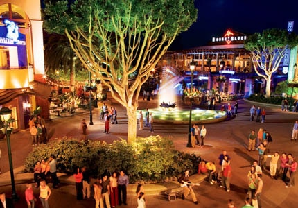 Downtown Disney is home to a variety of restaurants and shops, such as House of Blues and Sephora