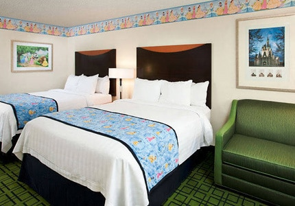 A themed guest room at the Fairfield Inn Anaheim Resort in California