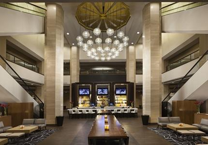The lobby at Hilton Anaheim in California