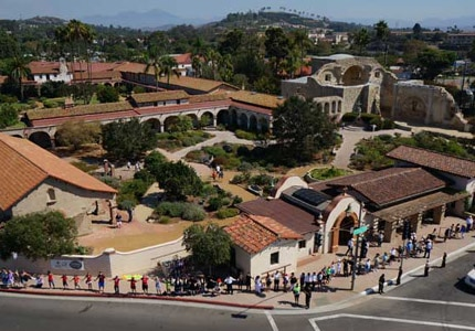Mission San Juan Capistrano in California was founded more than two hundred years ago