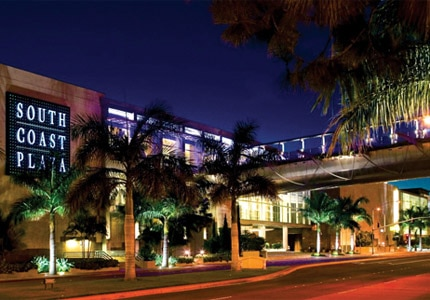 South Coast Plaza in Costa Mesa, California, is home to many luxury boutiques