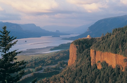 The Columbia River Gorge in Oregon