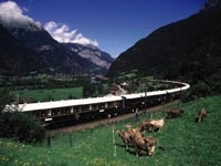 Enjoy quaint vistas from the Venice Simplon Orient-Express train