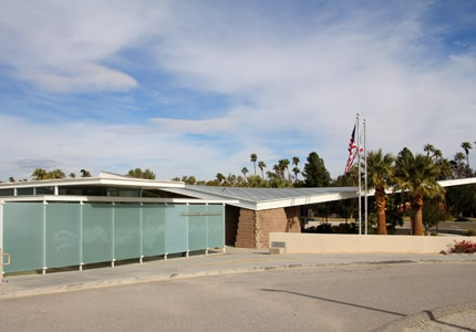 The Palm Springs Visitors Center in California
