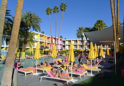 The pool at The Saguaro hotel in Palm Springs, California